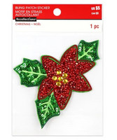 Recollections: Poinsettia Sticker Patch   -tarrapakkaus