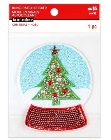 Recollections: Snow Globe Sticker Patch   -tarrapakkaus