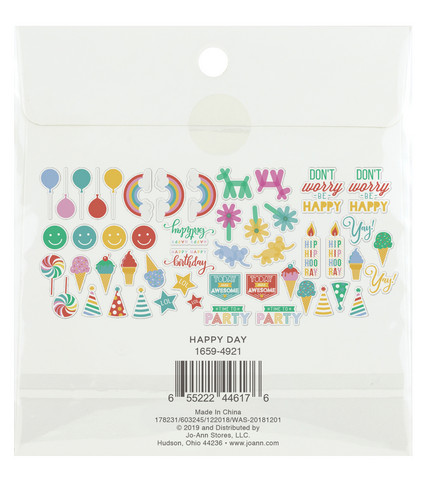 Park Lane Paperie Washi Flakes Stickers: Happy Day