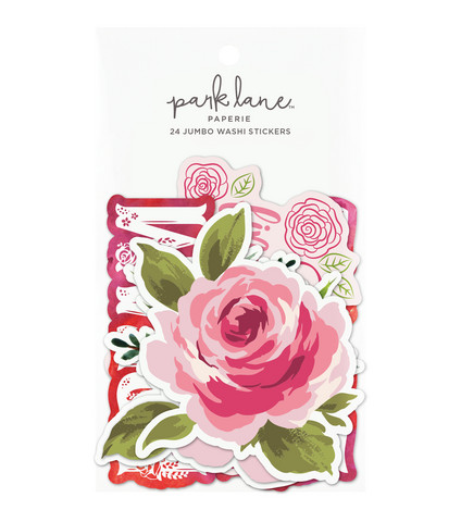 Park Lane Paperie Jumbo Washi Stickers: Red Floral