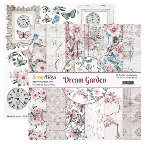 Scrapboys:  Dream Garden 12x12 - paperikokoelma