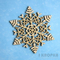 Large Snowflake - chipboardpakkaus
