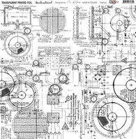 13arts Transparent Printed Foil : Industrial 12x12   - asetaattiarkki