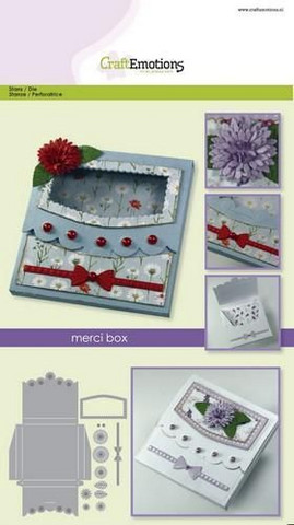 Craft Emotions: Merci Box  - stanssisetti