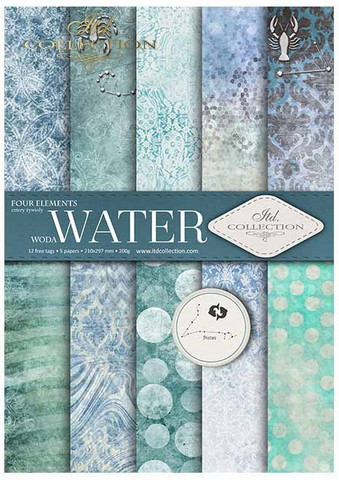 ITD Collection: Four Elements - Water A4- paperikokoelma