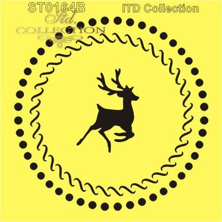 ITD Collection: Deer Medallion  6x6   - sabluuna