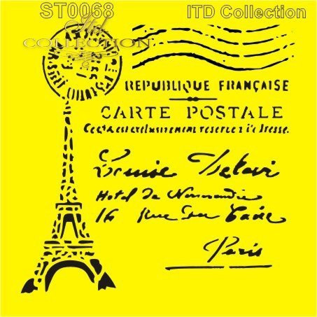 ITD Collection: Carte Postale Paris 6x6   - sabluuna