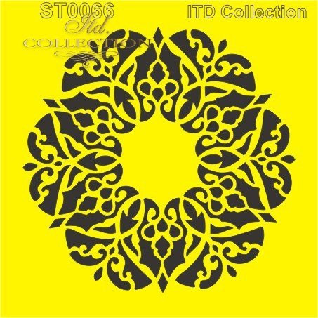 ITD Collection: Ornamental Wreath 6x6   - sabluuna