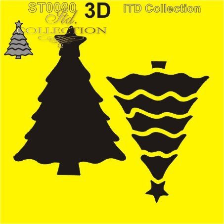 ITD Collection: Layered Christmas Tree #4  6x6   - sabluuna