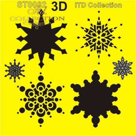 ITD Collection: Layered Snowflakes  6x6   - sabluuna