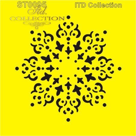 ITD Collection: Snowflake Doily  6x6   - sabluuna