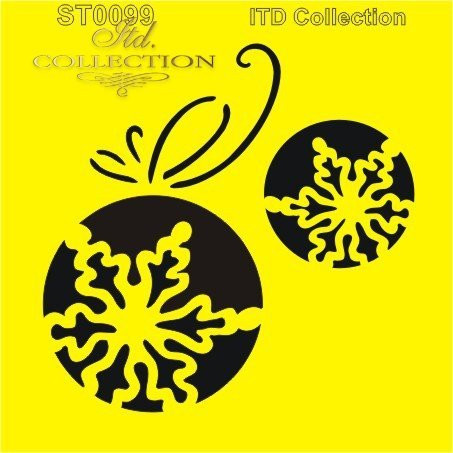 ITD Collection: Snowflake Ornaments  6x6   - sabluuna