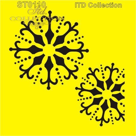 ITD Collection: Snowflake Pair  6x6   - sabluuna
