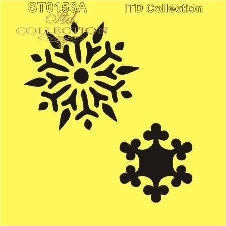 ITD Collection: Two Snowflakes 6x6   - sabluuna