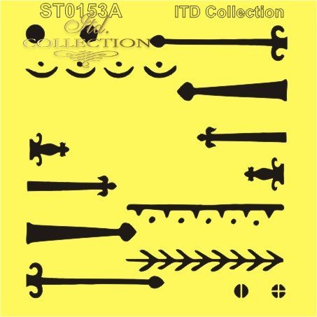 ITD Collection: Bolts, nails & hinges #3  6x6   - sabluuna