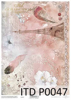 Printed Vellum A4: Paris Pink