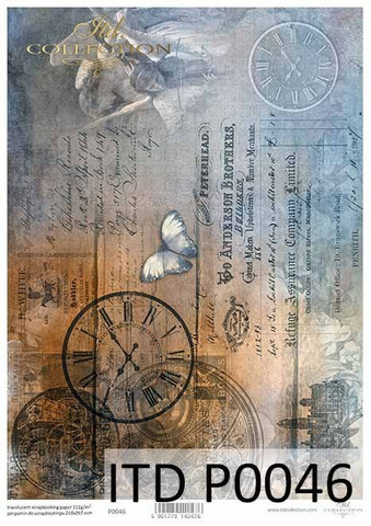 Printed Vellum A4: Steampunk Time