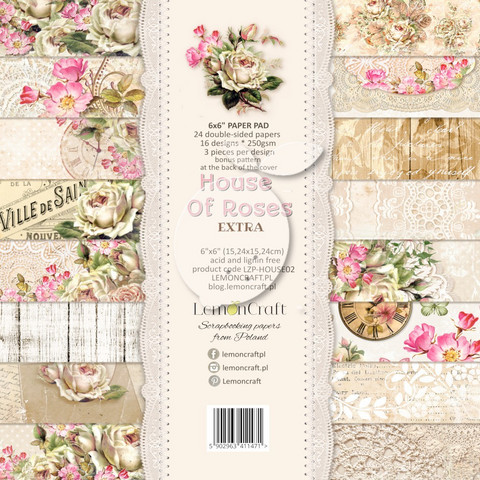 Lemoncraft: House of Roses Extra 6x6 -paperilehtiö