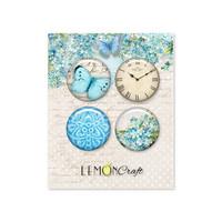 Lemoncraft: Forget Me Not Flair Buttons -  koristeet