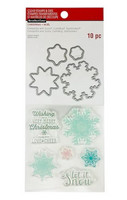 Recollections: Snowflakes Clear Stamp & Die Set