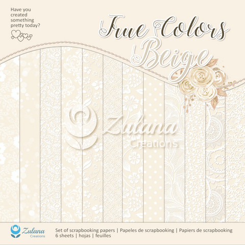 Zulana Creations: True Colors Beige 12x12 - paperikokoelma