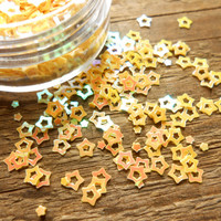 Confetti: Yellow Holo Stars  3 mm/ 7ml