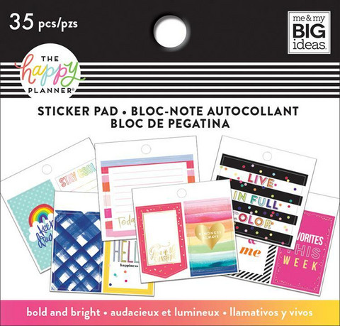 MAMBI Happy Planner Classic Tiny Sticker Pad - Bold & Bright