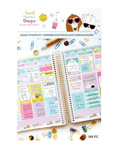 Sweet Kawaii Design Weekly Sticker Kit: Weekly - tarrakirja