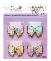 Shine Sticker Studio Magnetic Shaker Bow Bookmarks - kirjanmerkit