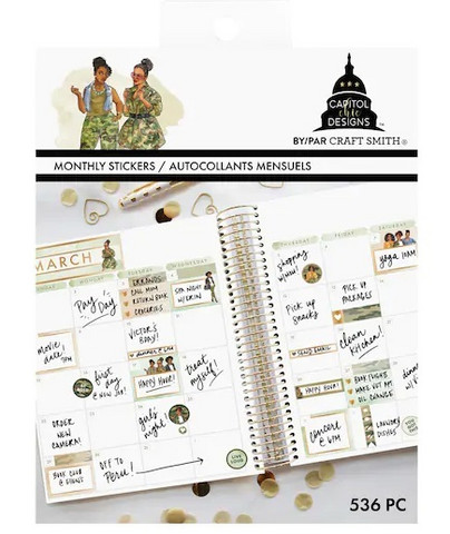 Capitol Chic Design Monthly Sticker Book: Camo - tarrakirja