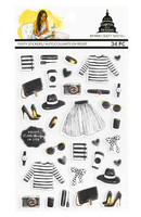 Capitol Chic Designs Puffy Stickers: Black & White - tarrapakkaus