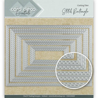 Card Deco Essentials: Stitch Rectangle -stanssisetti