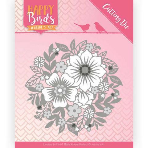 Jeanine's Art Happy Birds: Flower Circle -stanssi