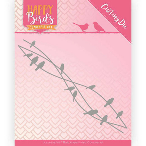 Jeanine's Art Happy Birds: Birds On Wire -stanssi