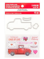 Recollections Valentine stamps & dies 2020: Love Truck