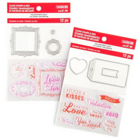 Recollections Valentine stamps & dies 2020