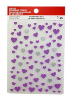 Recollections Valentine Die Cut Embossing Folder : Hearts Medley  -kohokuviointikansio