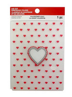 Recollections Valentine Die Cut Embossing Folder : Heart Window  -kohokuviointikansio