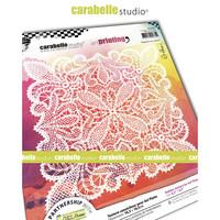 Carabelle Studio Texture Plate: Napperon au crochet by Alexis