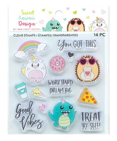 Sweet Kawaii Design Clear Stamps  -leimasinsetti