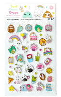 Sweet Kawaii Design Puffy Stickers - tarrapakkaus