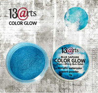 13arts Color Glow Metallic Watercolor: Blue Saphire 10g - jauhevesiväri