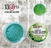 13arts Color Glow Metallic Watercolor: Emerald 10g - jauhevesiväri