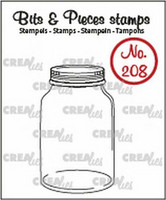 Crealies Bits & Pieces Stamps: Mason Jar