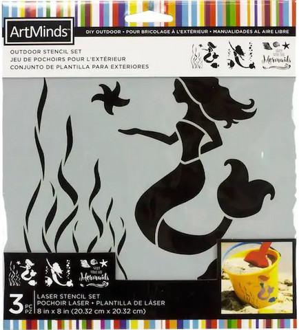 Artminds Outdoor Stencil Set: Mermaids -sabluunapakkaus