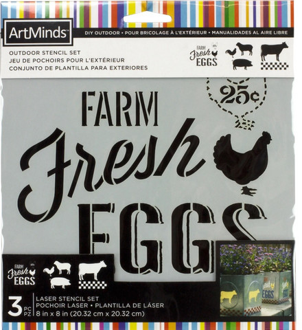 Artminds Outdoor Stencil Set: Farm Life -sabluunapakkaus