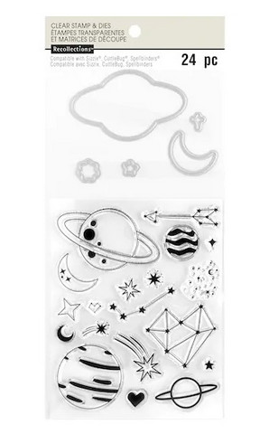 Recollections: Celestial Clear Stamp & Die Set