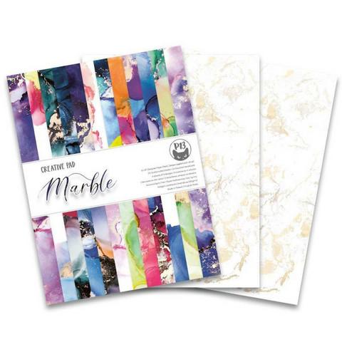 P13.: Creative Pad - Marble 6x8 - paperikokoelma