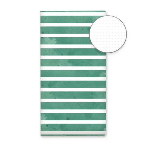 P13: Dot Travel Journal TN : Green Stripes