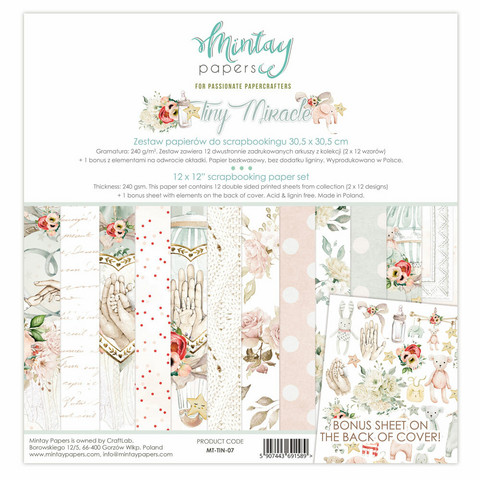 Mintay Papers: Tiny Miracle 12x12 - paperikokoelma